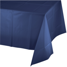 Blue Navy  Plastic Table Cover