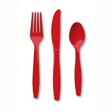 Red Classic  Cutlery Sets