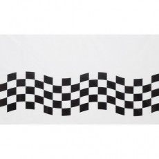 Check Black & White  Paper Table Cover