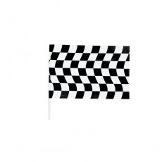 Check Black & White Jumbo Plastic Flag