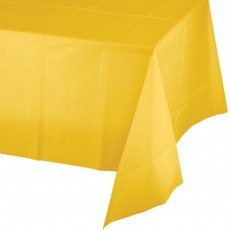 School Bus Yellow Plastic Table Cover 137cm x 274cm