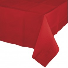 Classic Red Plastic Table Cover 137cm x 274cm