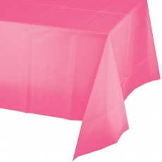 Candy Pink Plastic Table Cover 137cm x 274cm