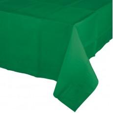 Emerald Green Plastic Table Cover 137cm x 274cm