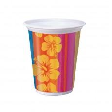 Hawaiian Sunset Stripes Luau Plastic Cups