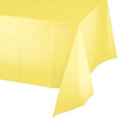Mimosa Yellow Plastic Table Cover 137cm x 274cm