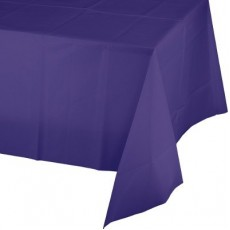 Purple Plastic Table Cover