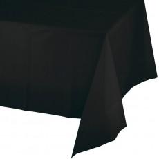 Black Velvet Plastic Table Cover 137cm x 274cm