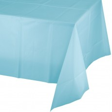 Pastel Blue Plastic Plastic Table Cover 137cm x 274cm