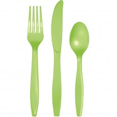Green Fresh Lime Plastic Cutlery Sets