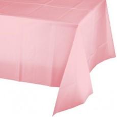 Classic Pink Plastic Table Cover 137cm x 274cm