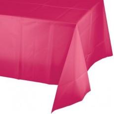 Hot Magenta Plastic Table Cover 137cm x 274cm