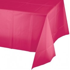 Magenta Hot  Plastic Table Cover