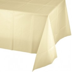 Ivory Plastic Table Cover