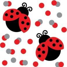 Ladybug Fancy Red & Silver  Confetti