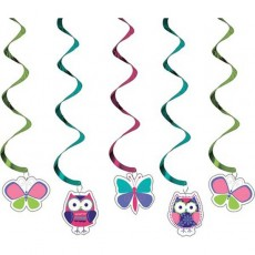 Owl Pal Dizzy Danglers Swirls Hanging Decorations