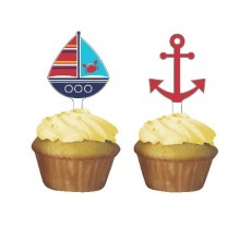 Ahoy Matey Cupcake Toppers Cake Toppers