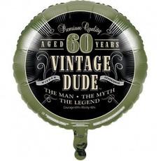 Vintage Dude Foil Balloon
