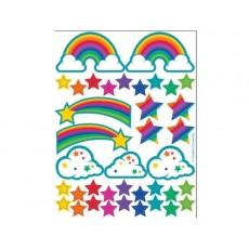 Rainbow Glitter Sticker Favours