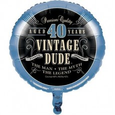 Vintage Dude Foil Balloon