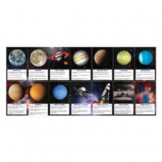 Space Blast Party Supplies - Favours Planet Fact Cards