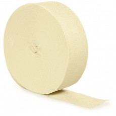 Ivory Party Decorations - Crepe Streamer