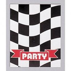 Check Black & White  Invitations
