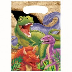 Dinosaur Dino Blast Loot Favour Bags Pack of 8