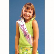 Happy Birthday Birthday Girl Sash Costume Accessorie