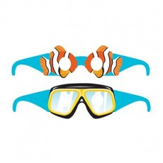 Ocean Party Glasses Costume Accessories
