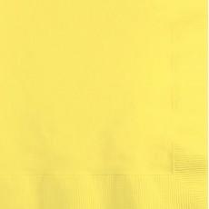 Mimosa Yellow Beverage Napkins 25cm x 25cm Pack of 50