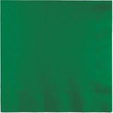 Emerald Green Beverage Napkins 25cm x 25cm Pack of 50