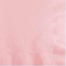 Classic Pink Beverage Napkins 25cm x 25cm Pack of 50