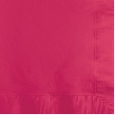 Magenta Hot  Beverage Napkins