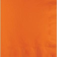 Sunkissed Orange Lunch Napkins 33cm x 33cm Pack of 50