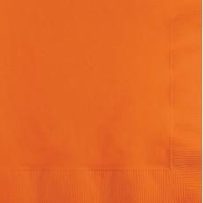 Sunkissed Orange Beverage Napkins 25cm x 25cm Pack of 50