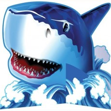Shark Splash Blue  Centrepiece