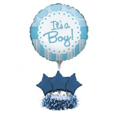 Baby Shower - General Blue  Centrepiece