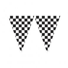 Check Black & White Race Giant Banner