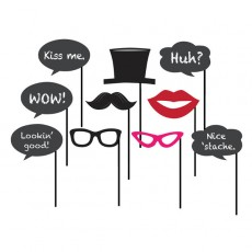 Chalkboard Party Supplies - Photo Props