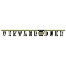 Vintage Dude Jointed 60th Birthday Banner