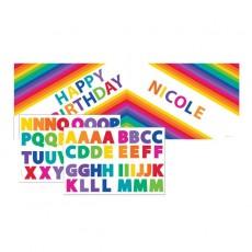 Rainbow Stickers & Giant Plastic Banner