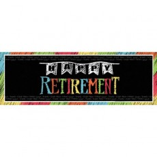 Retirement Chalk Design Banner