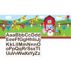 Farmhouse Fun Party Decorations - Banner Giant Personalize It