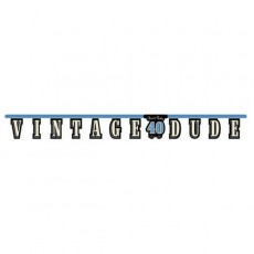 Vintage Dude Jointed Banner