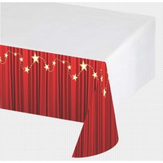Hollywood Lights Plastic Table Cover
