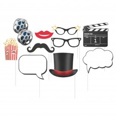 Hollywood Lights Photo Booth Photo Props Pack of 10