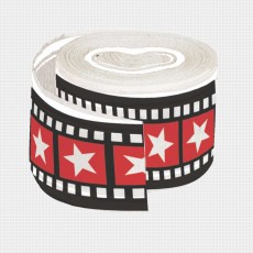 Hollywood Lights Stars Crepe Streamer