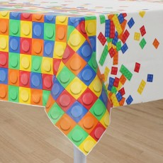 Block Party Party Supplies - Plastic Table Cover