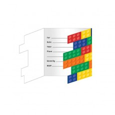 Block Party Party Supplies - Invitations Gatefold